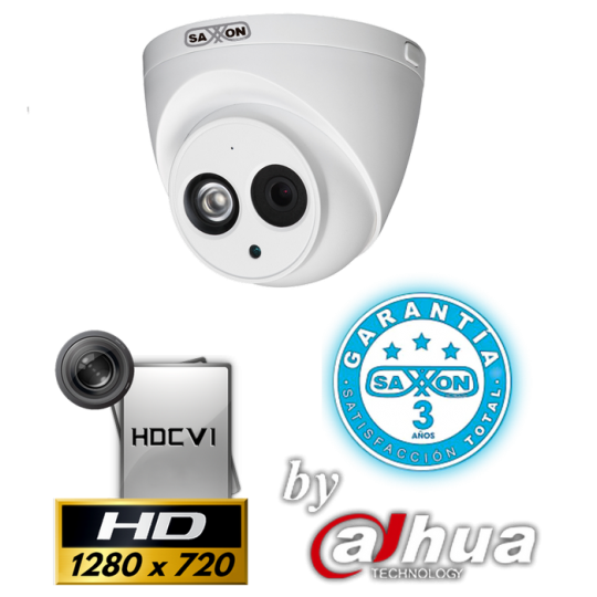 Saxxon PRO HDWAPRO CAMARA DOMO 1MP 720P/ MICROFONO INTEGRADO/ SMART IR 50M/ IP67/ 3.6MM/ METAL