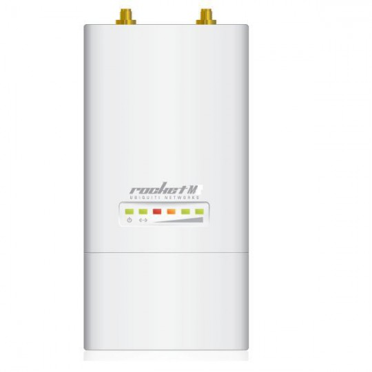 Ubiquiti ROCKETM5- ACCESS POINT INALAMBRICO AIRMAX 5.8GHZ/ EXTERIOR/ MIMO/ 2 CONECTORES RP-SMA/ 27DBM/ RENDIMIENTO HASTA 150MBPS