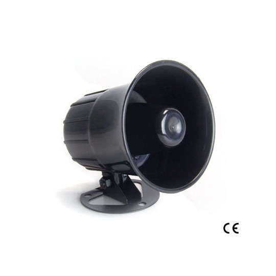 Horn HC626320 - SIRENA ALAMBRICA COLOR NEGRO/ COMPATIBLE CON PANEL LONGHORN/ 110dB/ 12VDC