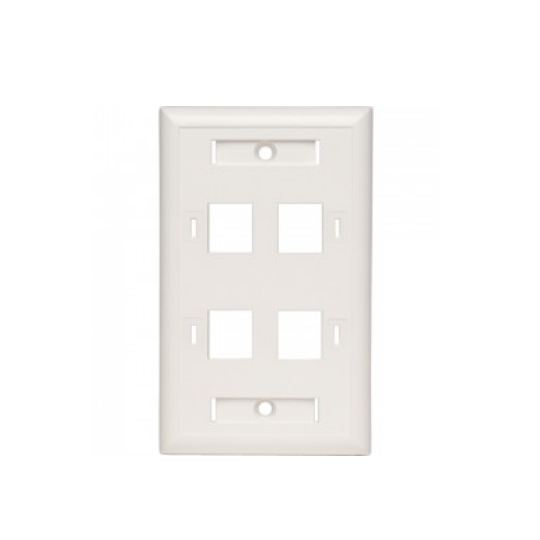 Belden AX102249- PLACA FRONTAL/ 4 VENTANAS/ COLOR BLANCO