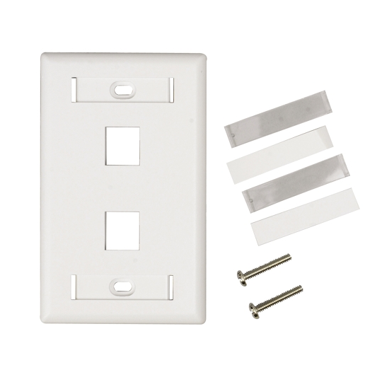 Belden AX102655- PLACA FRONTAL/ 2 VENTANAS / COLOR BLANCO