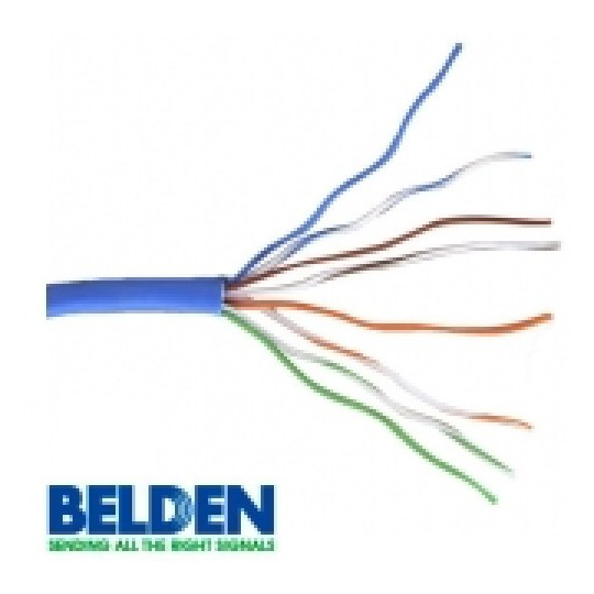 Belden 1583A006U1000 - CABLE UTP/ 4 PARES/ CATEGORIA 5E/ 24 AWG/ 305 METROS/ 100% COBRE/ COLOR AZUL