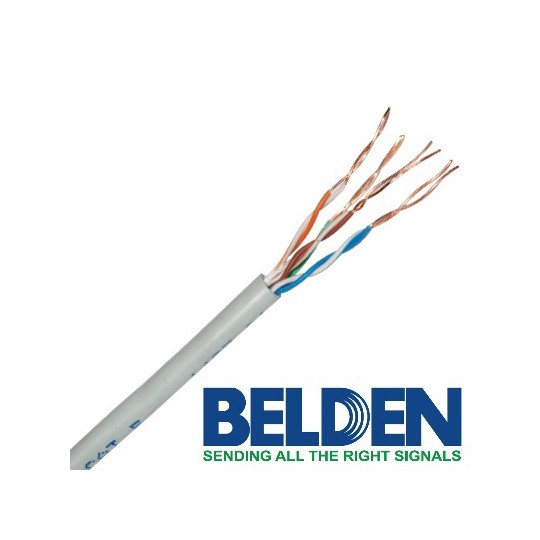 Belden 1583A008U1000 - CABLE UTP/ 4 PARES/ CATEGORIA 5E/ 24 AWG/ 305 METROS/ 100% COBRE/ COLOR GRIS
