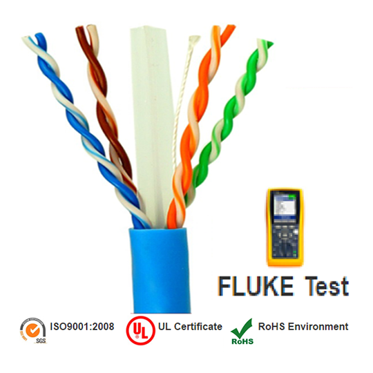 Saxxon OUTP6COP305B - CABLE UTP AZUL CATEGORIA 6/ 100% COBRE/ BOBINA 305 MTS/ 4 PARES/ FLUKE TEST
