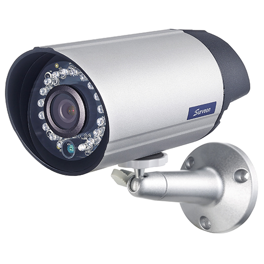 Surveon CAM3351 - CAMARA IP BULLET 2MP FULL HD / LENTE FIJO 4.2 MM / IR 15 MTS / DIA Y NOCHE / TRIPLE CODEC