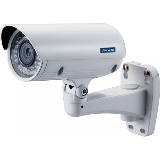 Surveon CAM3361LV- CAMARA IP BULLET 2 MP FULL HD/VARIFOCAL 3 A 10.5MM/IP66/POE/WDR/IR 20 MTS