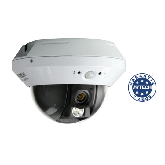 Avtech AVP521A - CAMARA IP DOMO/ POC/ WDR/1080P/2MP/RANURA MICRO SD/ LENTE 3.8MM/PIR/SOLID LIGHT