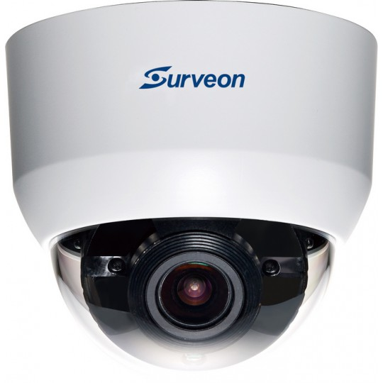 Surveon CAM4321LV2- CAMARA IP DOMO INTERIOR 2MP FULL HD/VARIFOCAL 2.8 A 12MM/IR 20 MTS/AUDIO/POE/WDR